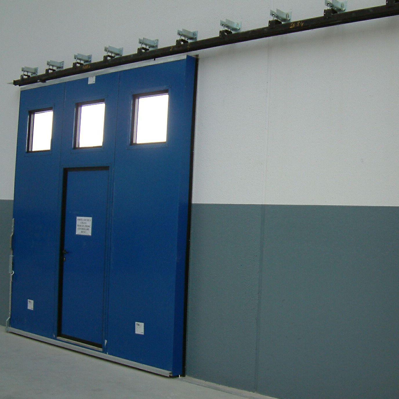 porta scorrevole / in metallo / da esterno / industriale - ps 3000
