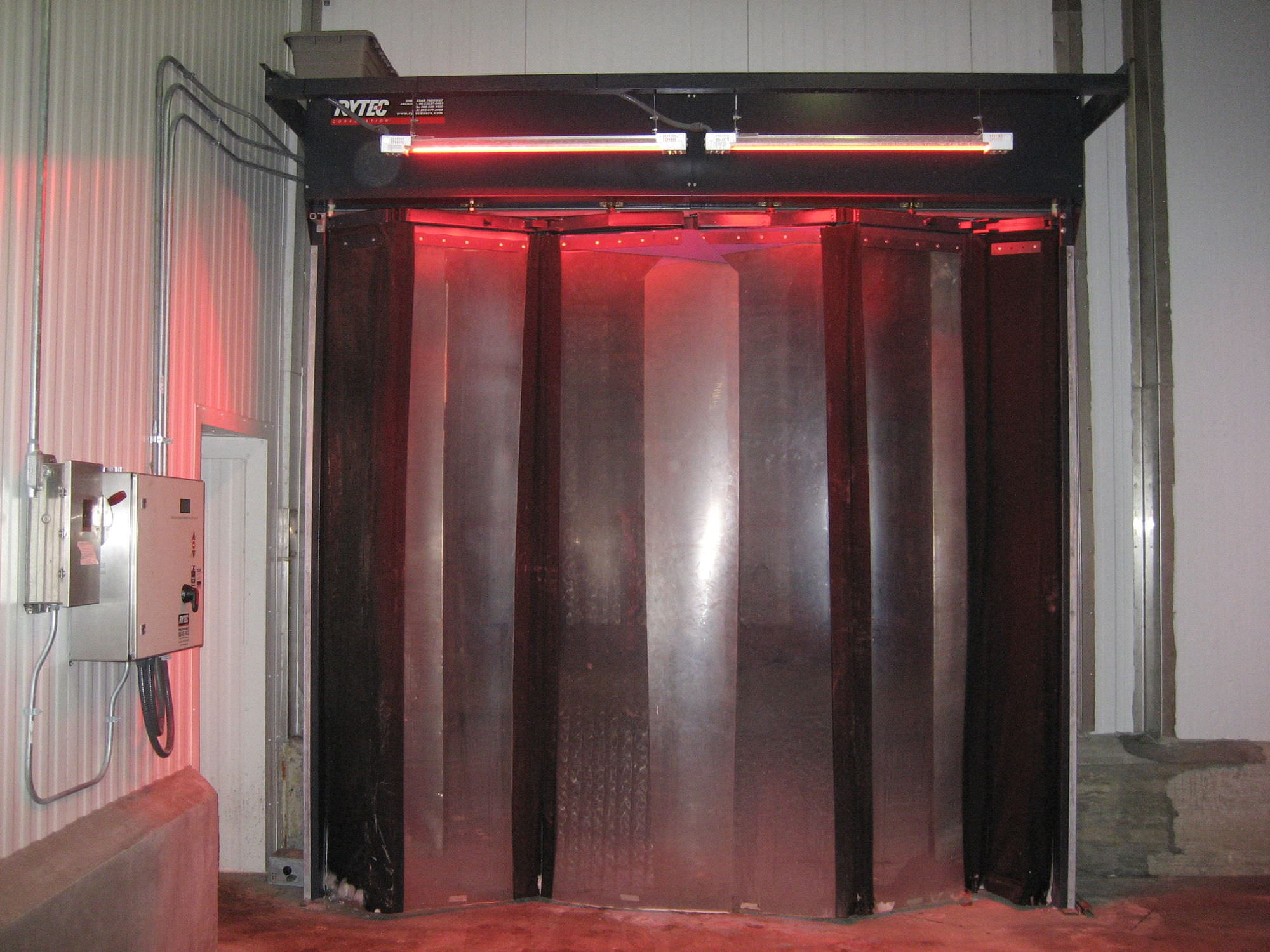 Porta pieghevole in pvc per magazzino frigorifero industriale