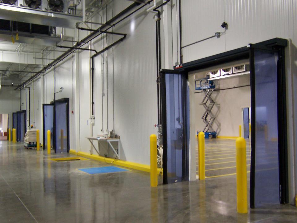 Porta pieghevole per magazzino frigorifero di accesso fast