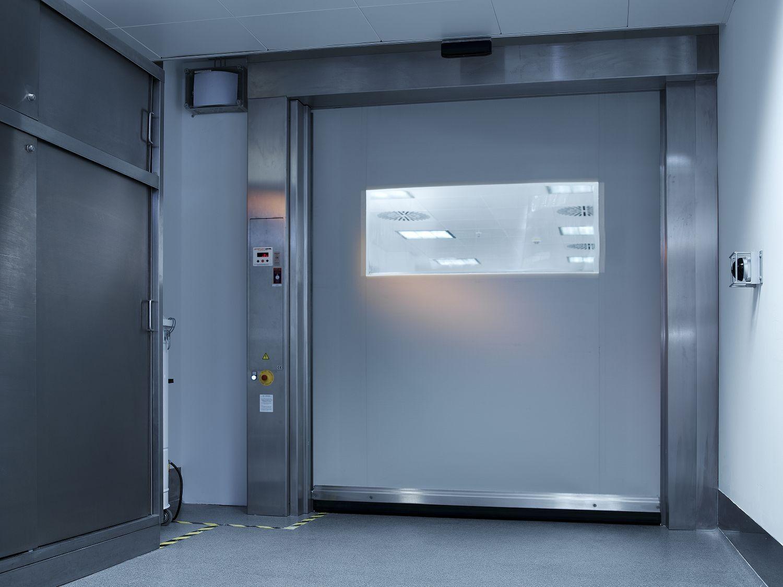 Camere Bianche Cosa Sono : Porta ad avvolgimento per camera bianca industriale a chiusura