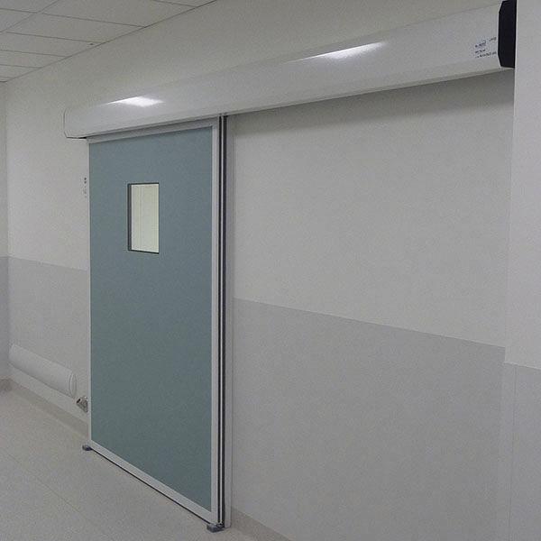 Porta scorrevole / in metallo / industriale / per camera bianca ...
