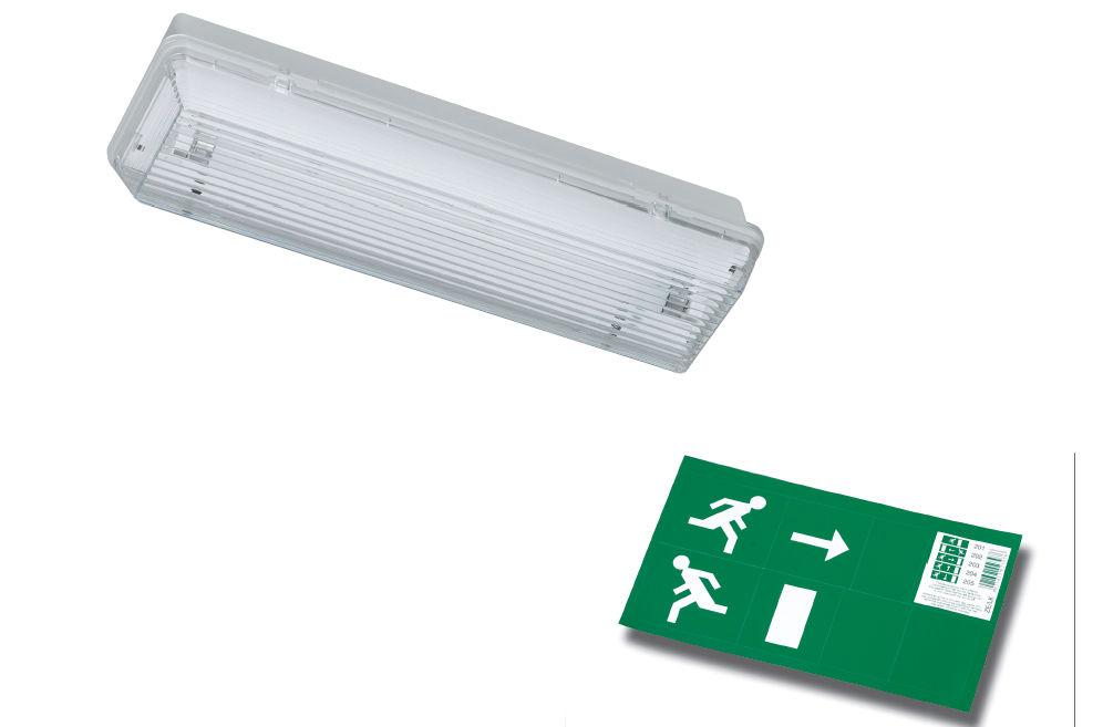 Illuminazione di emergenza led per ufficio non incassato
