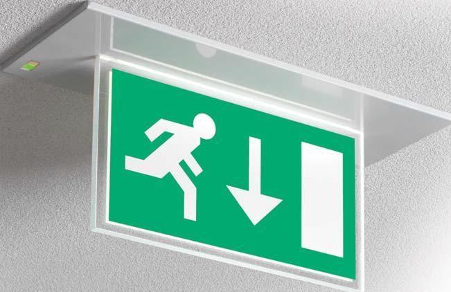 Illuminazione di emergenza a tubo fluorescente non incassato