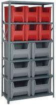 Scaffalatura magazzino di stoccaggio / per scatole / semi-pesante / unilaterale