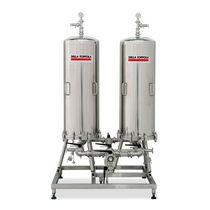 Carter per filtro a cartuccia / per liquido / in acciaio inossidabile / sanitario