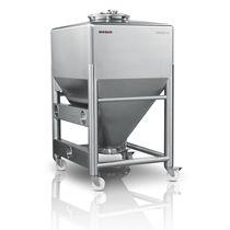 Cisterna IBC in acciaio inox / per prodotti farmaceutici / per polveri / granuli / per movimentazione