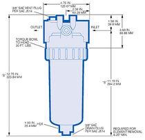 Carter per filtro a cartuccia / per liquido / in alluminio