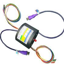 Collettore ad anelli USB / ad albero cavo / compatto