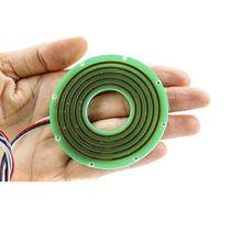 Collettore ad anelli tramite bus CAN / in 2 parti / piatto / tipo pancake
