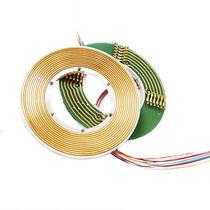 Collettore ad anelli elettrico / albero di trasmissione / in 2 parti / piatto