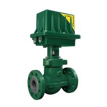 Valvola a globo / a comando pneumatico / per controllo di flusso / in acciaio al carbonio