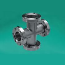 Raccordo con flangia / idraulico / a croce / in acciaio inossidabile