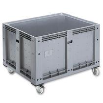 Cassa-pallet in plastica / di stoccaggio / accatastabile / a rotelle
