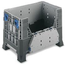 Cassa-pallet in plastica / da trasporto / pieghevole / rinforzata