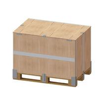 Cassa-pallet in legno / da trasporto / accatastabile / pieghevole