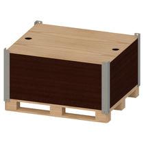 Cassa-pallet in legno / di stoccaggio / accatastabile
