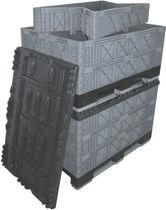 Cassa-pallet in plastica / per l'industria automobilistica / pieghevole