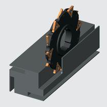 Fresa tre taglie / ad inserti amovibili / per scanalare / per acciaio