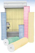 Materiale filtrante in fibra di vetro / di polvere / per filtro in rotolo
