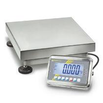 Bilancia a piattaforma / con display LCD / in acciaio inossidabile / rinforzata