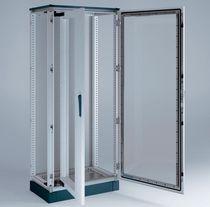 """Armadio per rete / da terra / con porte vetrate / rack 19"""""""