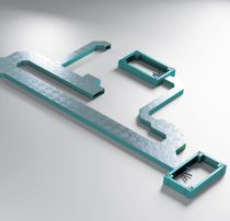 Canalina porta cavi in lamiera / modulare