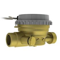 Misuratore di portata a turbina / per acqua / in ottone