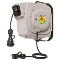 Avvolgitore per cavo elettrico / a richiamo automatico / orientabile / chiuso