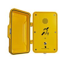 Telefono antivandalismo / a tenuta stagna / con porta di protezione / per applicazioni ferroviarie