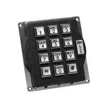 Tastiera numerica 12 tasti / a muro / in metallo / in silicone