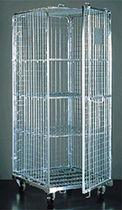 Roll-container di piccole dimensioni antifurto / bloccabile / in maglia metallica