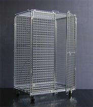 Roll-container di grandi dimensioni antifurto / bloccabile / in maglia metallica