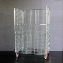 Roll-container 4 pannelli / a ripiani / in maglia metallica
