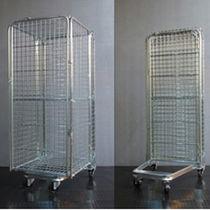 Roll-container in maglia metallica / antifurto / incastrabile / bloccabile