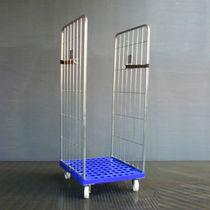 Roll-container 2 pannelli / in metallo / 3 pannelli / con base plastica