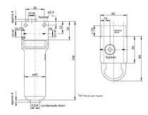 Filtro a gas / con cestello / per campioni / per pompa