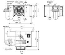 Refrigeratore di gas / regolabile / in acciaio inossidabile / compatto