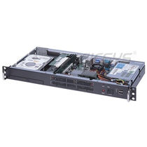 "Case per PC per rack / 19"" / 1U / con 2 array di storage"