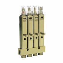 Manifold multicanale / in metallo / linea singola / per sistema di lubrificazione centralizzato