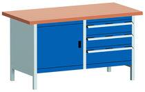 Banco da lavoro in legno / 3 cassetti