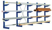Scaffalatura cantilever / per carichi lunghi / regolabile / galvanizzata