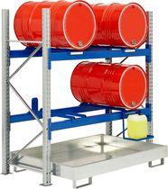 Scaffalatura magazzino di stoccaggio / per carichi medi / per fusti / galvanizzata
