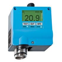 Trasmettitore di gas di ossigeno / elettrochimico / con indicatore / IP54