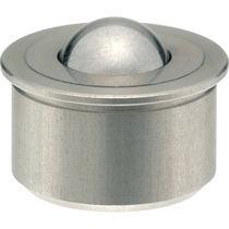 Sfera portante in acciaio inox / a zoccolo cilindrico