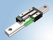 Guida lineare a binario / silenziata / in acciaio inossidabile