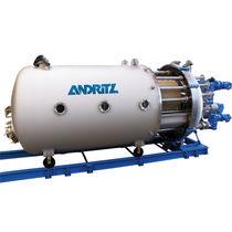 Filtro per liquidi / a tamburo / di processo / in pressione
