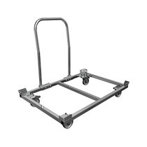Carrello da trasporto / in acciaio galvanizzato / con rotelle / impilabile