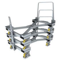 Carrello di carico / in acciaio galvanizzato / carico/scarico da ambo i lati / impilabile