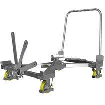Carrello da trasporto / in acciaio galvanizzato / carico/scarico da ambo i lati / antistatico