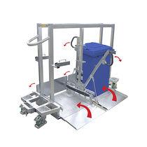 Carrello da trasporto / in plastica riciclata / a pianale ribassato / carico/scarico da ambo i lati